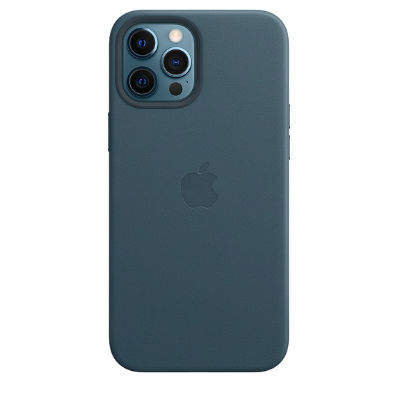 Apple kožený kryt, pouzdro, obal s MagSafe Apple iPhone 12 Pro Max baltic blue