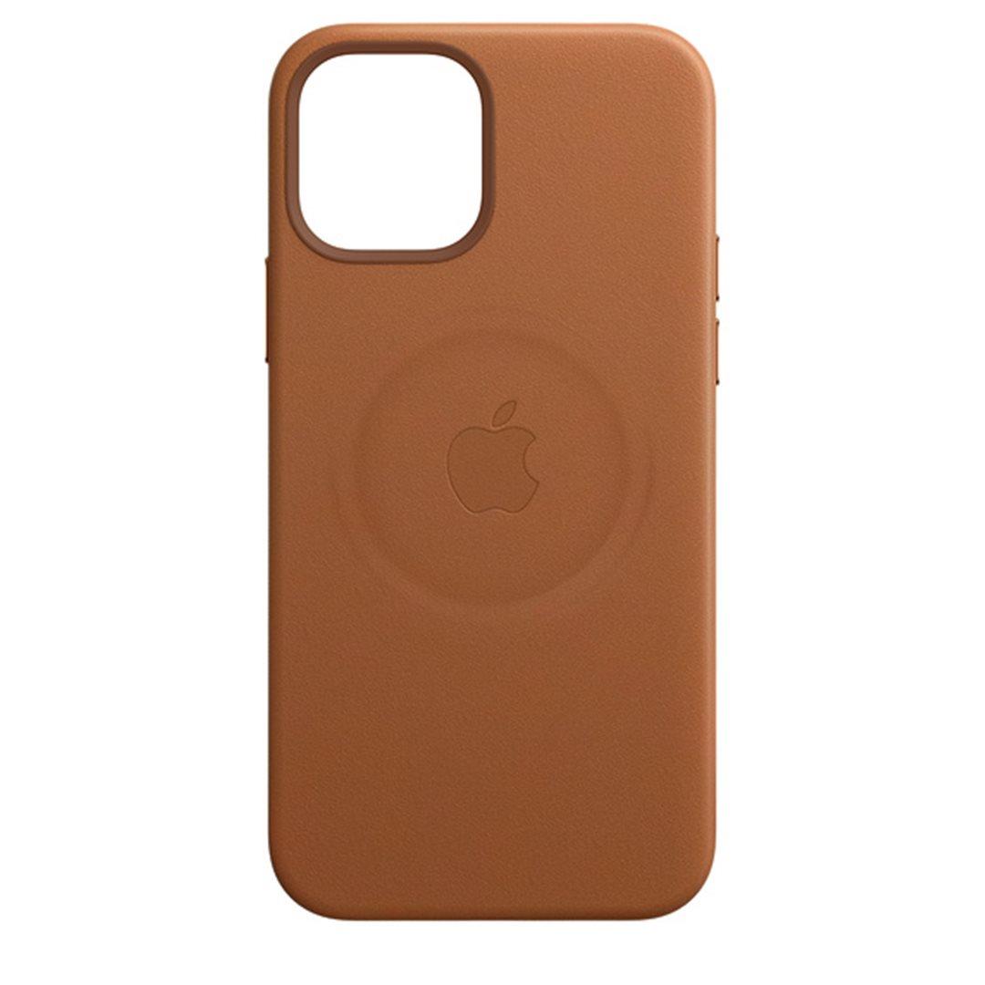 Apple kožený kryt, pouzdro, obal s MagSafe Apple iPhone 12/12 Pro saddle brown