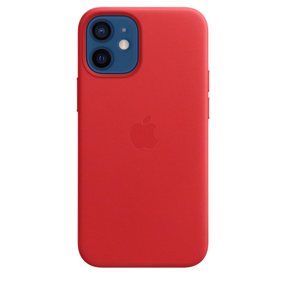 Apple kožený kryt, pouzdro, obal s MagSafe Apple iPhone 12 mini product red