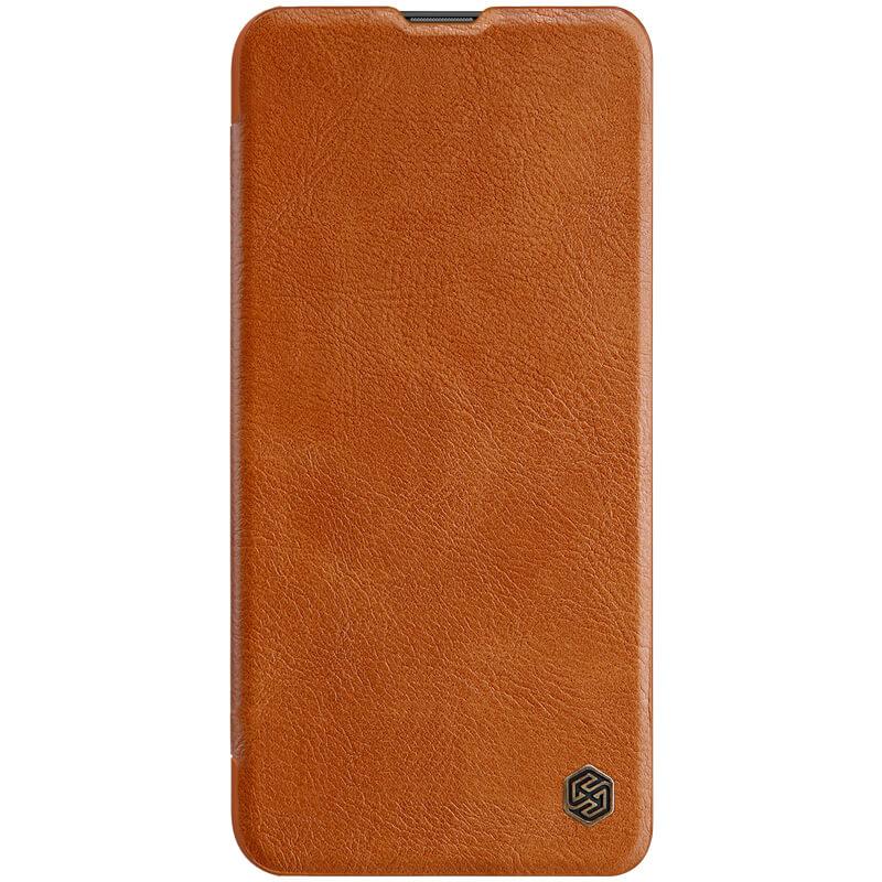 Nillkin Qin flipové pouzdro, obal, kryt pro Samsung Galaxy A42 brown