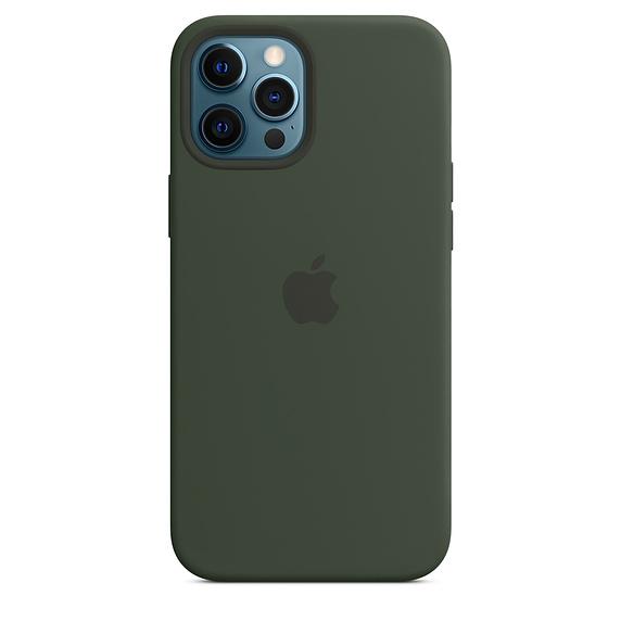 Apple silikonový kryt, pouzdro, obal s MagSafe Apple iPhone 12 Pro Max cyprus green
