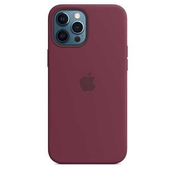 Apple silikonový kryt, pouzdro, obal s MagSafe Apple iPhone 12 Pro Max plum