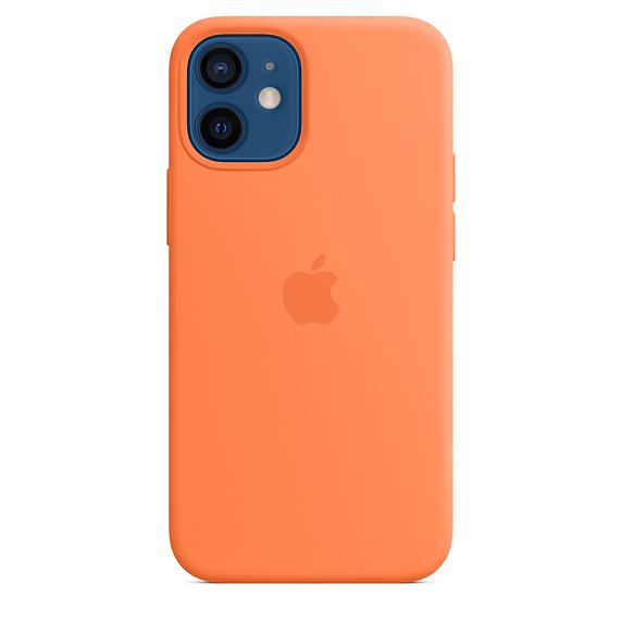 Apple silikonový kryt, pouzdro, obal s MagSafe Apple iPhone 12 mini kumquat