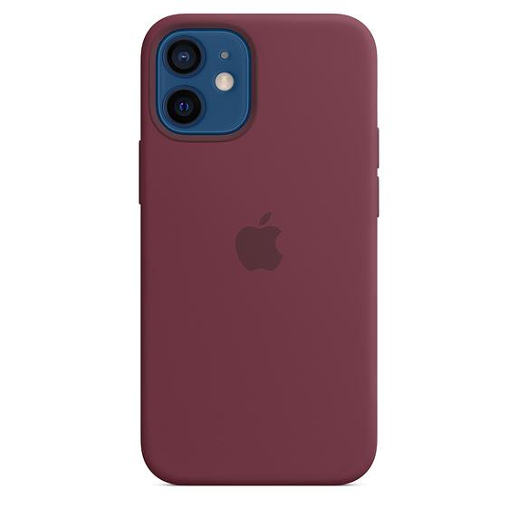 Apple silikonový kryt, pouzdro, obal s MagSafe Apple iPhone 12 mini plum