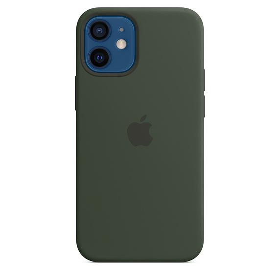 Apple silikonový kryt, pouzdro, obal s MagSafe Apple iPhone 12/12 Pro cyprus green