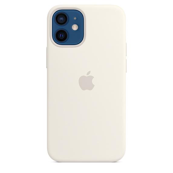 Apple silikonový kryt, pouzdro, obal s MagSafe Apple iPhone 12/12 Pro white
