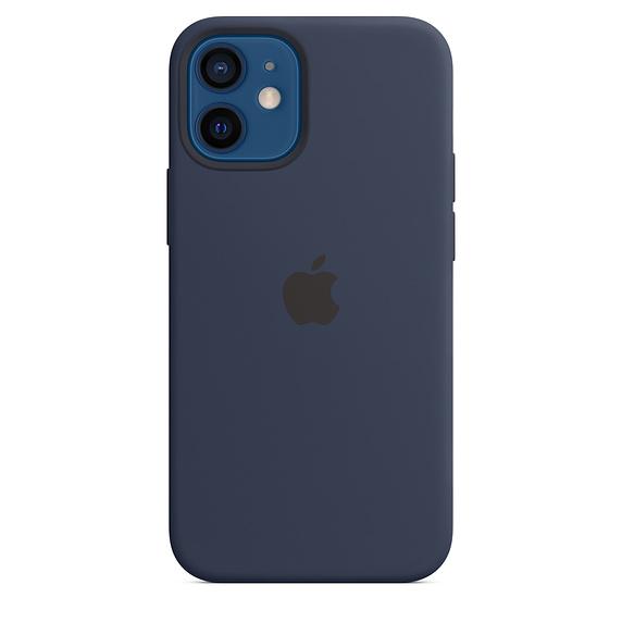 Apple silikonový kryt, pouzdro, obal s MagSafe Apple iPhone 12/12 Pro deep navy