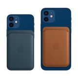 Apple Leather Wallet pouzdro, obal, kryt s MagSafe Apple iPhone 12 baltic blue