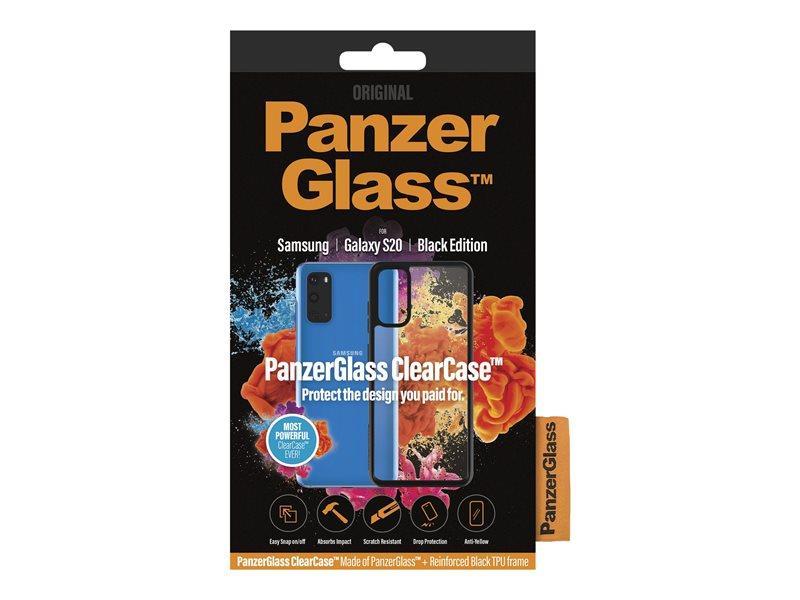 Ochranný kryt PanzerGlass ClearCase pro Samsung Galaxy S20, černá