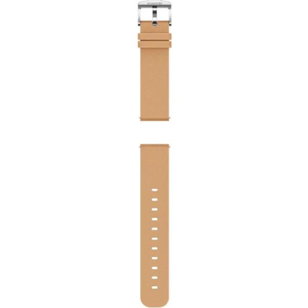 Huawei Original kožený řemínek pro Watch GT 2 42mm khaki