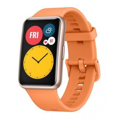 Huawei silikonový řemínek Huawei Watch Fit orange