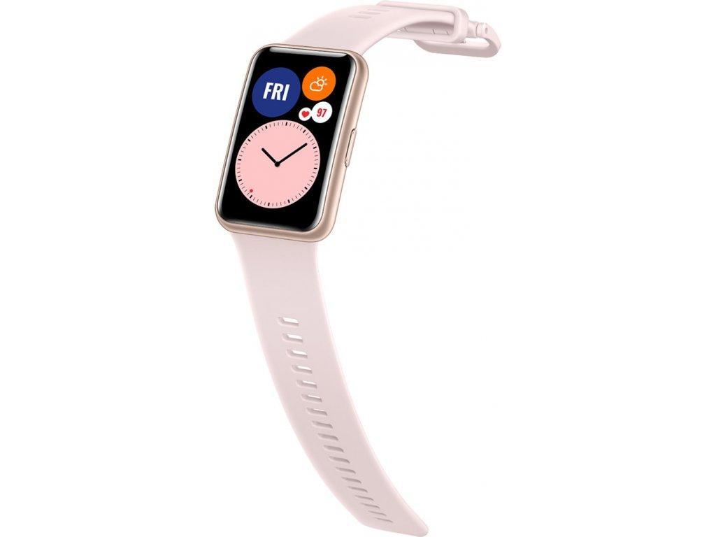 Huawei silikonový řemínek Huawei Watch Fit sakura pink