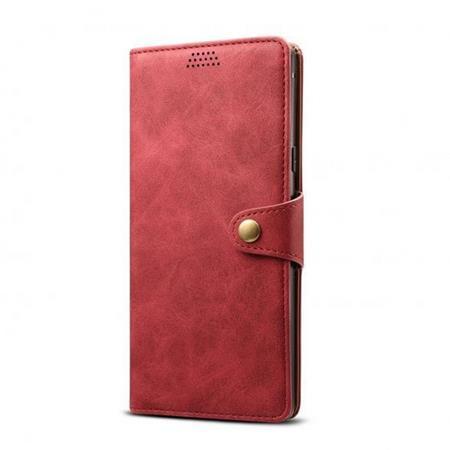 Flipové pouzdro Lenuo Leather pro Xiaomi Mi 10T/10T Pro, červená