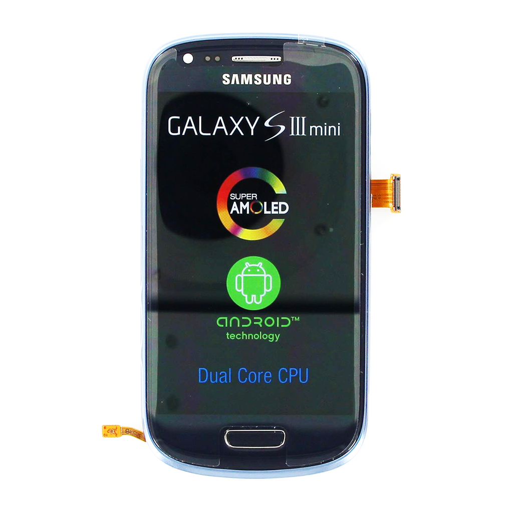 LCD displej + Dotyková deska + Přední kryt Samsung Galaxy S III mini, Blue