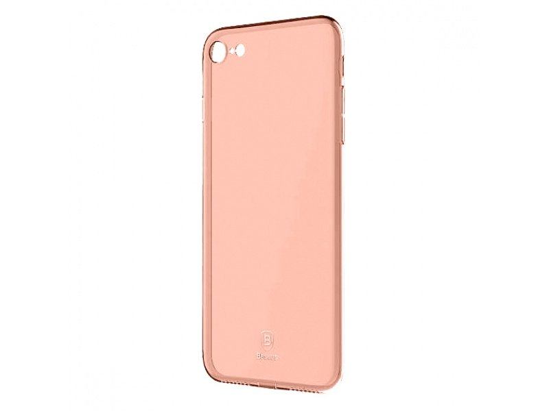 Silikonové pouzdro Baseus Simple Series Case pro Apple iPhone 7/8/SE 2020, růžovo-zlatá