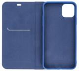 Flipové pouzdro Forcell Luna Carbon pro Samsung Galaxy A41, modrá