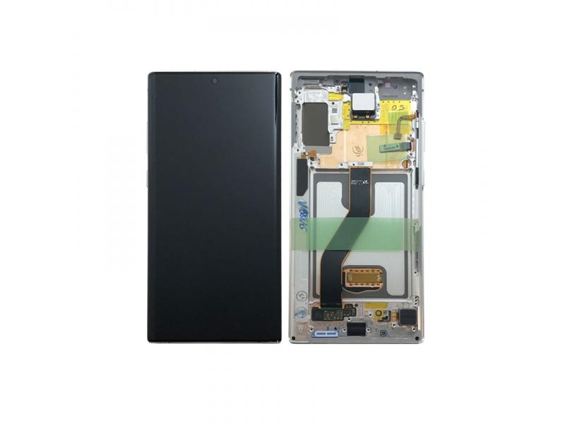 LCD + dotyk + rámeček pro Samsung Galaxy Note10+, aura white ( Service Pack )