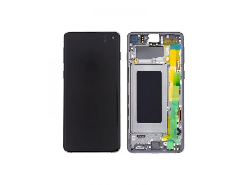 LCD + dotyk + rámeček pro Samsung Galaxy S10, prism black ( Service Pack )