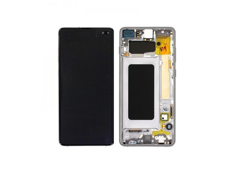 LCD + dotyk + rámeček pro Samsung Galaxy S10+, prism black ( Service Pack )