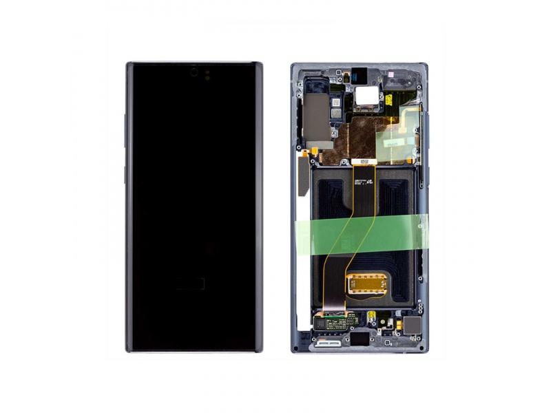 LCD + dotyk + rámeček pro Samsung Galaxy Note10+, aura black ( Service Pack )