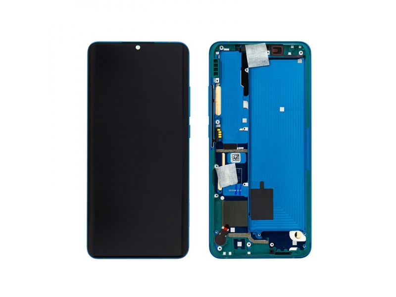 LCD + dotyk + rámeček pro Xiaomi Mi Note 10/ Note 10 Pro, aurora green ( Service Pack )