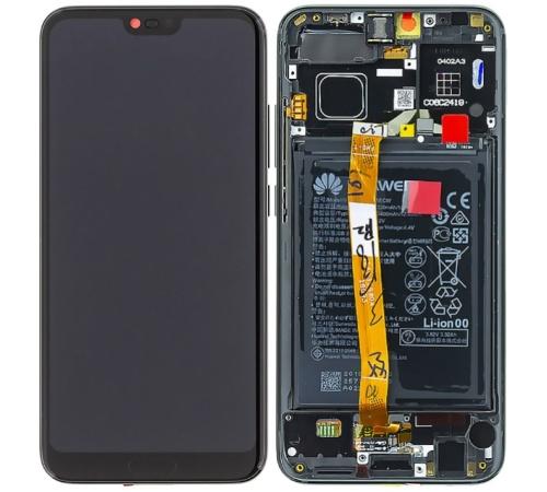 LCD + dotyk + přední kryt + baterie pro Honor 10, black (Service Pack)