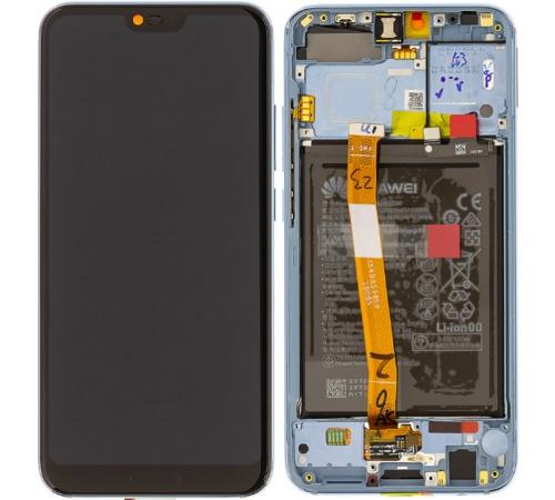 LCD + dotyk + přední kryt + baterie pro Honor 10, grey (Service Pack)