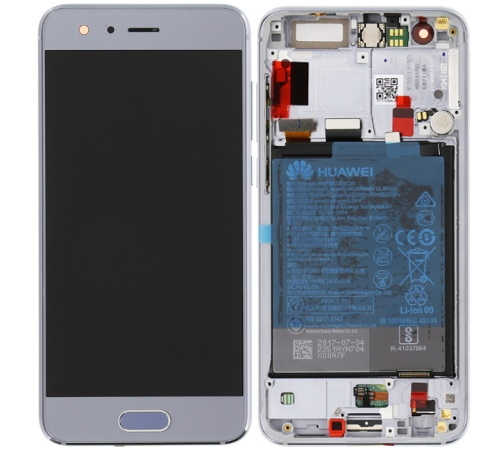 LCD + dotyk + rámeček + baterie pro Honor 9, grey ( Service Pack )