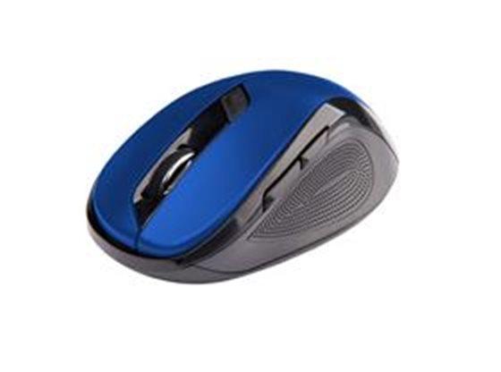 Ergonomická myš C-TECH WLM-02, bezdrátová, 6tlač. černá/modrá