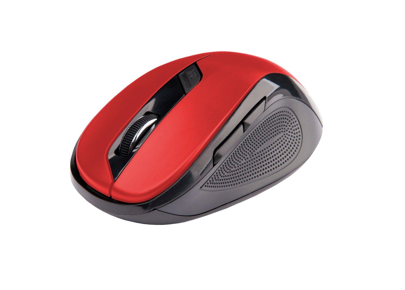 Ergonomická myš C-TECH WLM-02, bezdrátová, 6tlač., černá-červená