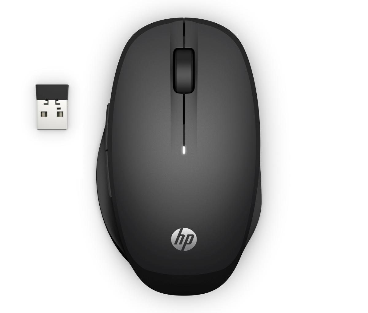 Ergonomická myš HP Dual Mode Mouse 300, bezdrátová, černá