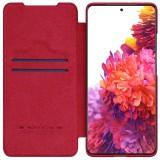 Nillkin Qin flipové pouzdro pro Samsung Galaxy S21 Ultra, red