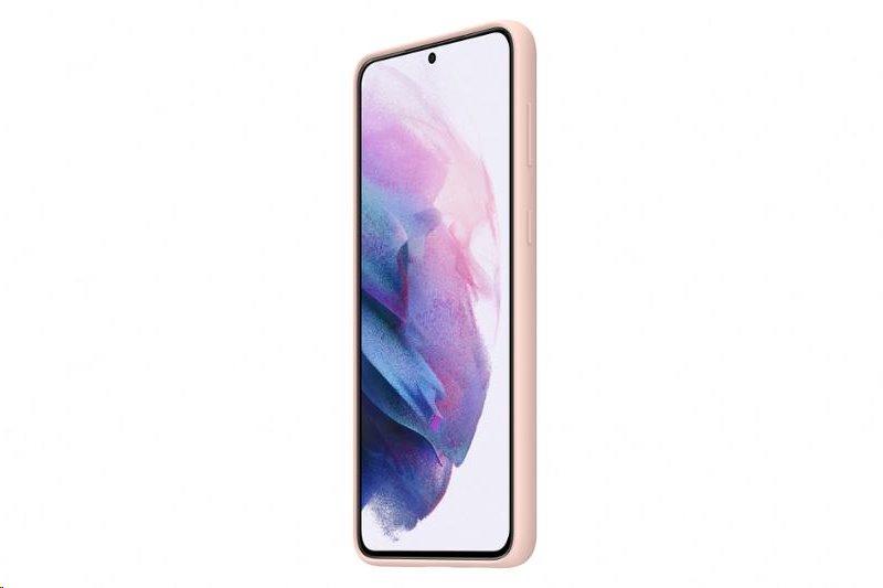 Silikonové pouzdro Samsung EF-PG996TPE pro Samsung Galaxy S21 Plus, růžová
