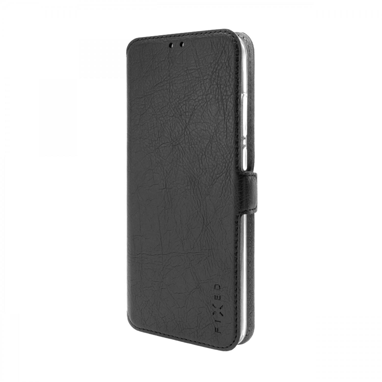 FIXED Topic flipové pouzdro pro Samsung Galaxy A12, černá