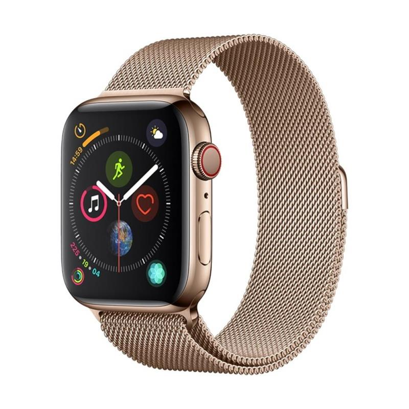 Řemínek Devia Elegant Milanese pro Apple Watch 44mm/42mm, zlatá