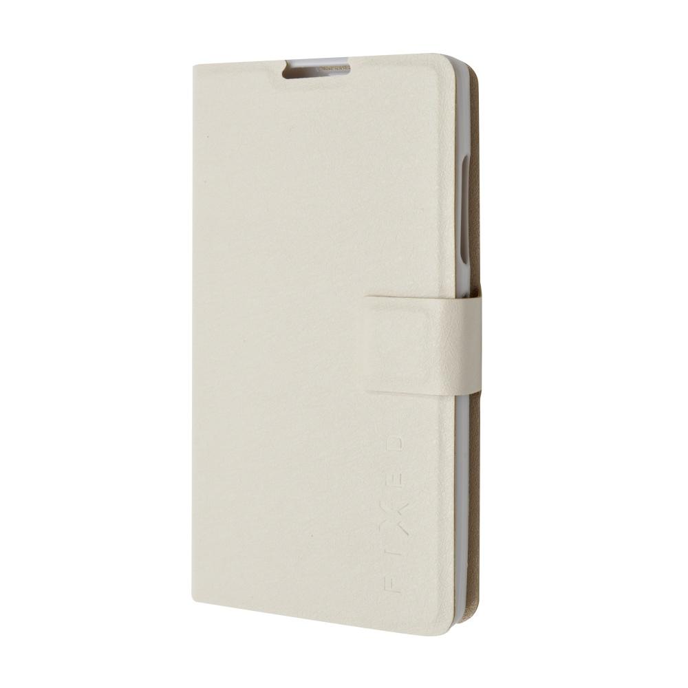 Pouzdro typu kniha FIXED s gelovou vaničkou pro Lenovo A2010, bílé