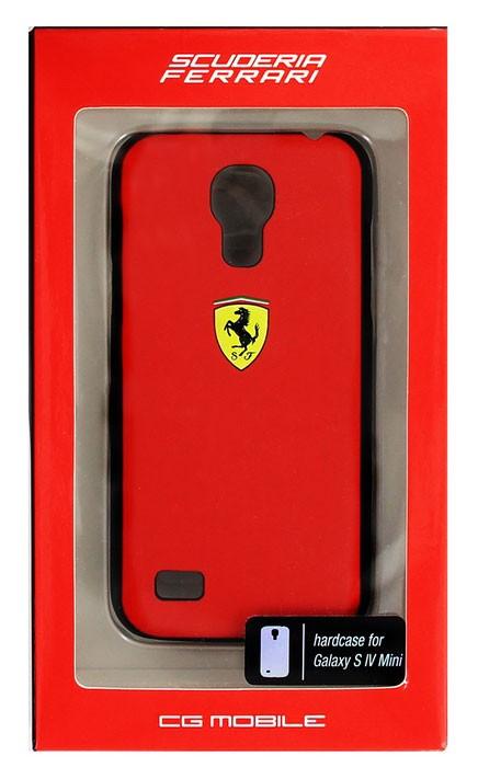 Zadní kryt Ferrari Scuderia Rubber pro Samsung Galaxy S4 mini, red