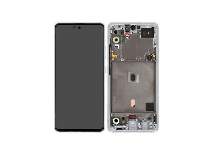 LCD + dotyk + rámeček pro Samsung Galaxy A51 5G, Prism Cube White ( Service Pack )