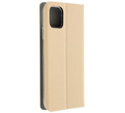 Flipové pouzdro SENSITIVE pro Samsung Galaxy A12, zlatá