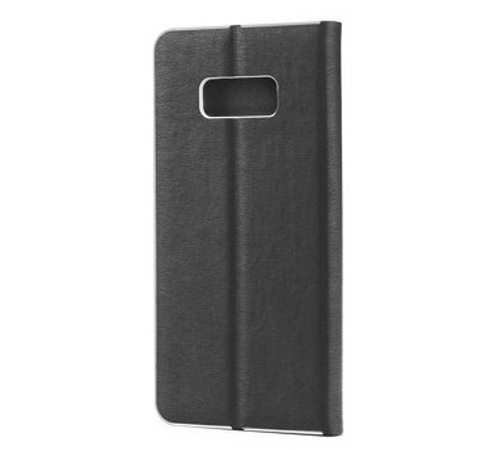 Flipové pouzdro Forcell Luna Book Silver pro Samsung Galaxy A12, černá