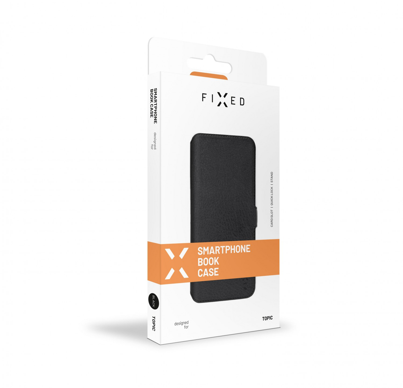 FIXED Topic flipové pouzdro pro Nokia 2.4, černá