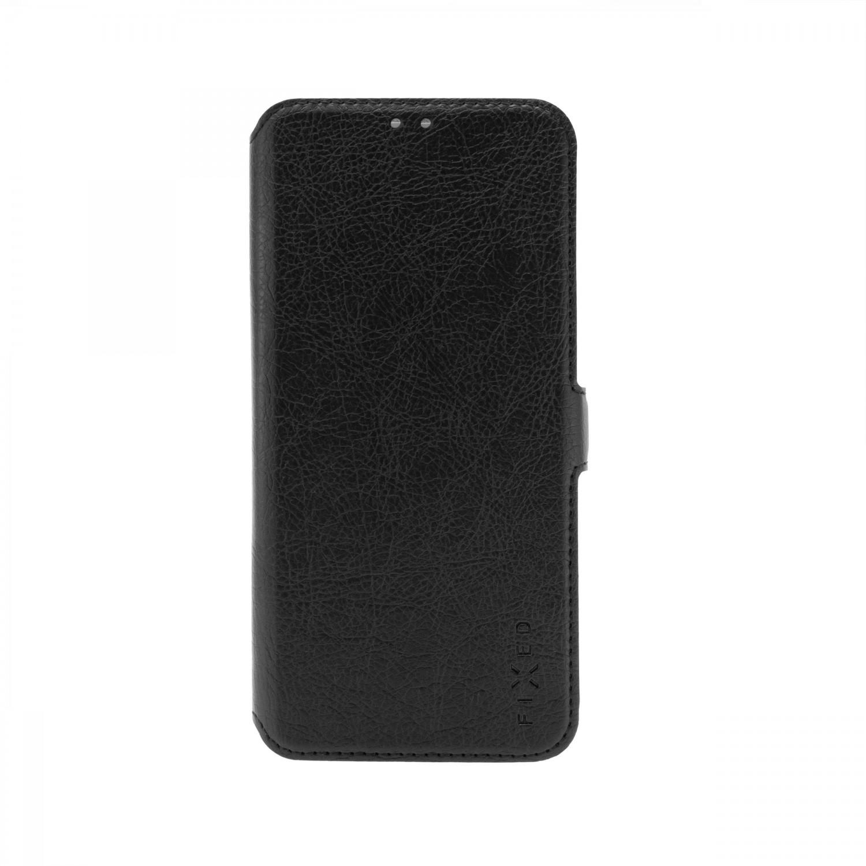 FIXED Topic flipové pouzdro pro Motorola Moto E7 Plus, černá