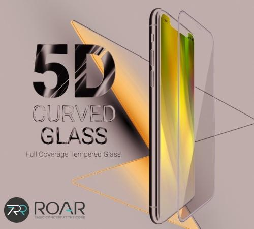Tvrzené sklo Roar 5D pro Samsung Galaxy S21+, černá