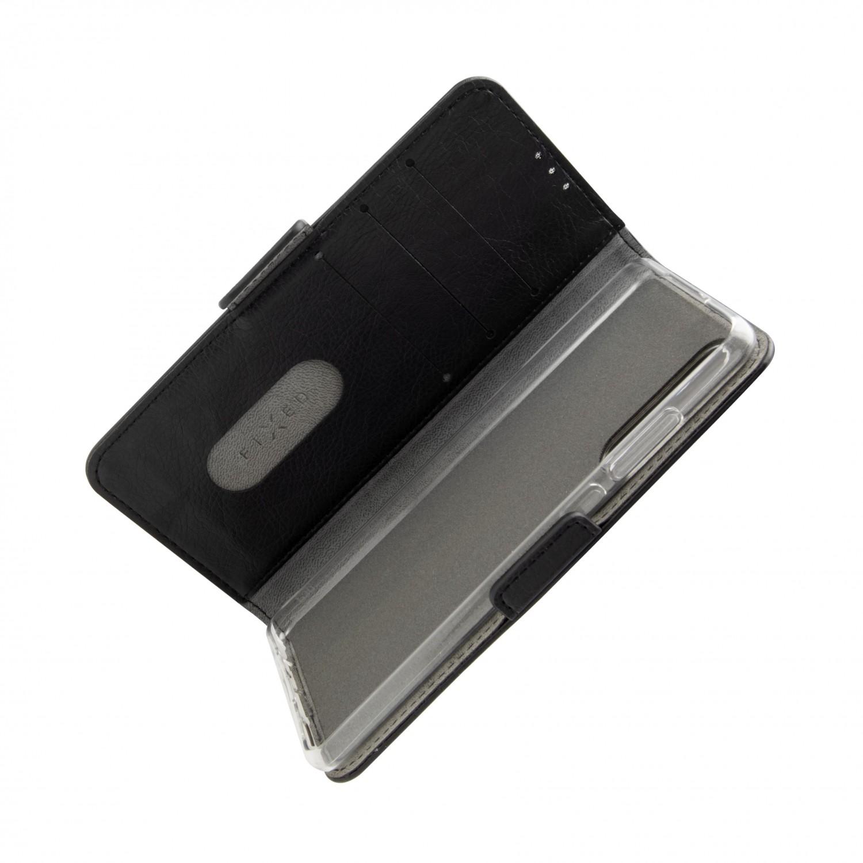 Pouzdro typu kniha FIXED Opus pro Xiaomi Redmi Note 10/Note 10S, černé