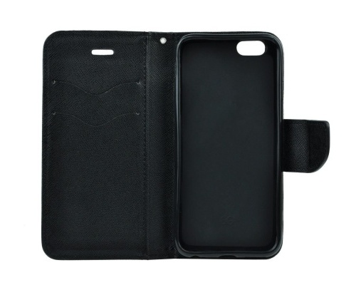 Flipové pouzdro Fancy pro Nokia 6.2/Nokia 7.2, černá