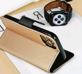 Flipové pouzdro Fancy pro Samsung Galaxy A21s, zlatá - černá