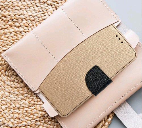 Flipové pouzdro Fancy pro Samsung Galaxy A20s, zlatá - černá