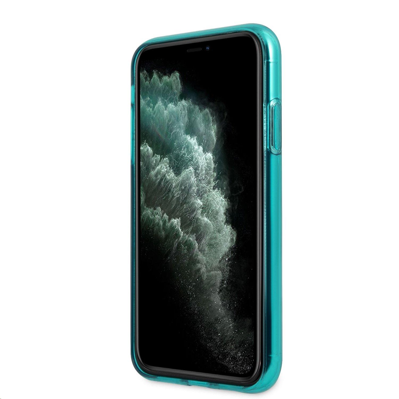 Silikonové pouzdro Karl Lagerfeld Choupette Head KLHCN61CHTRB pro Apple iPhone 11, modrá