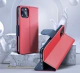 Flipové pouzdro Fancy pro Samsung Galaxy M12, červená - modrá