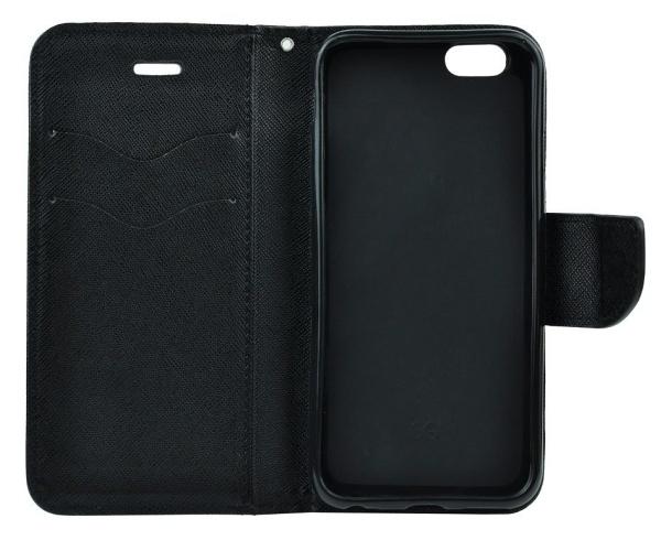 Flipové pouzdro Fancy pro Samsung Galaxy A42 5G, černá